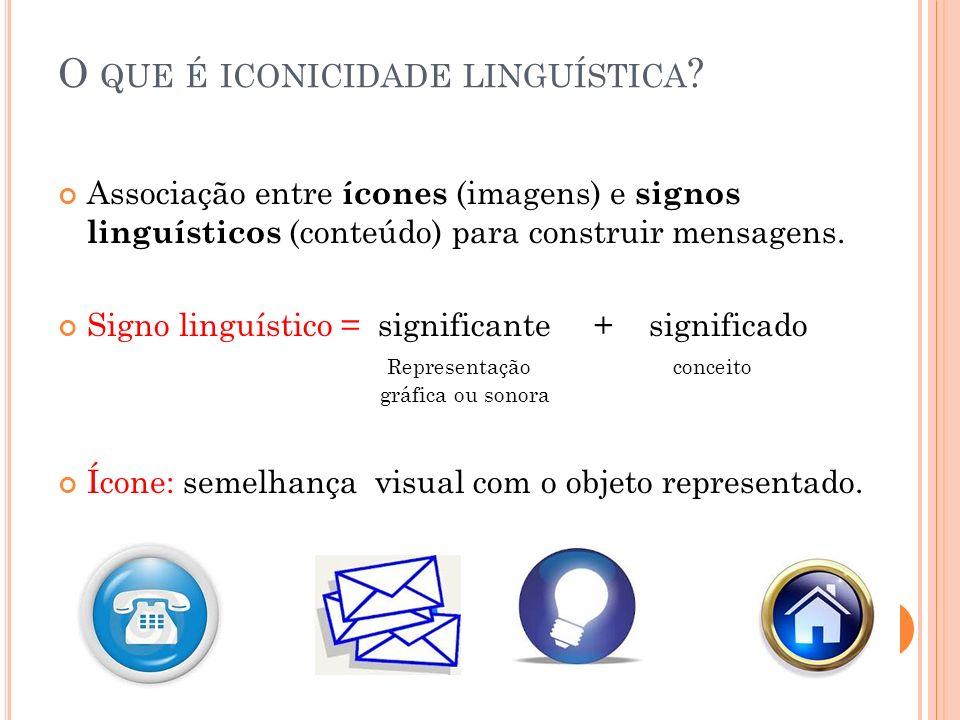 O que é iconicidade linguística