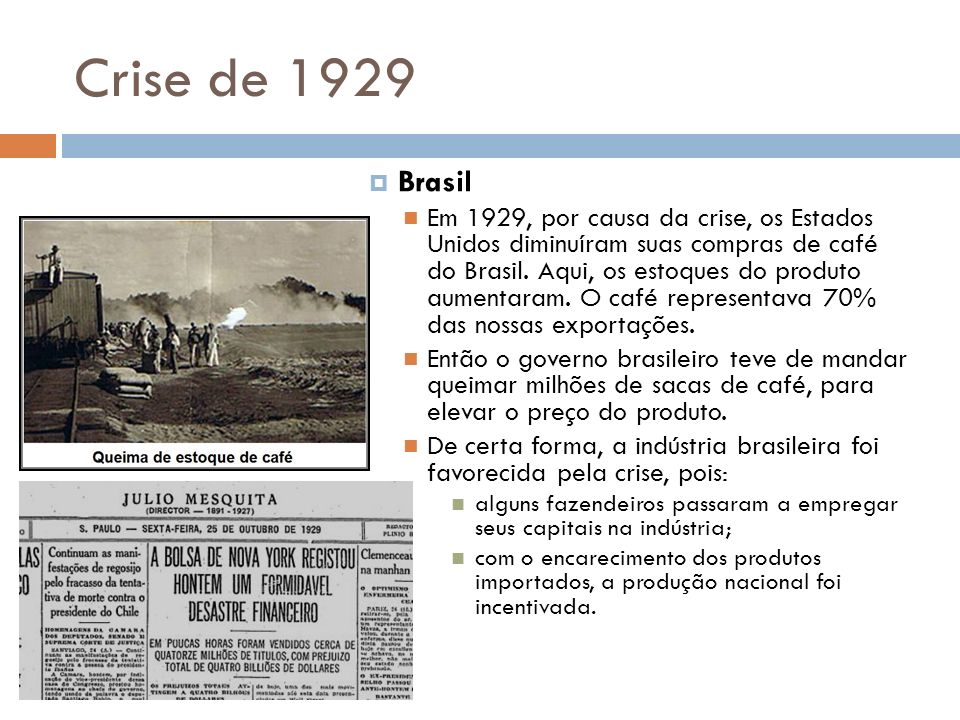 Crise de 1929 Brasil.