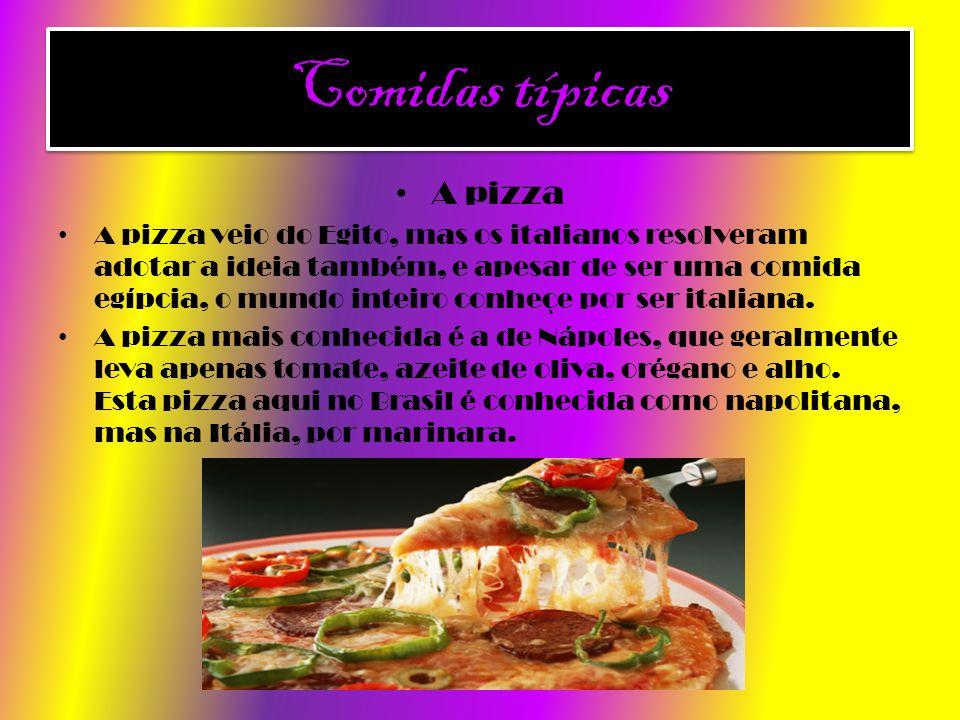 Comidas típicas A pizza