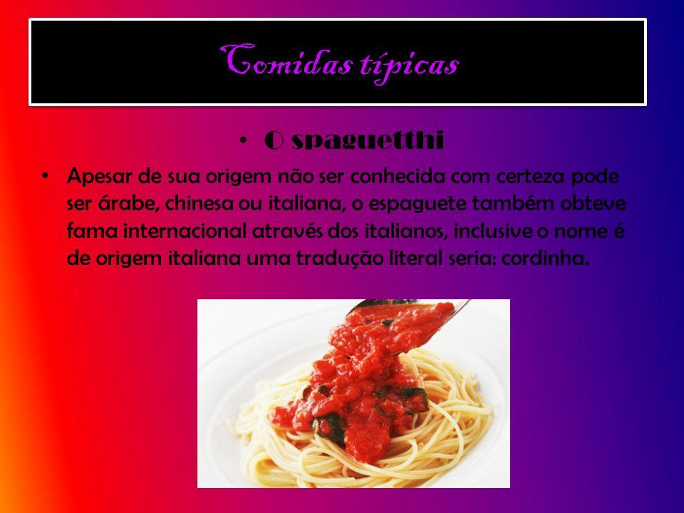 Comidas típicas O spaguetthi