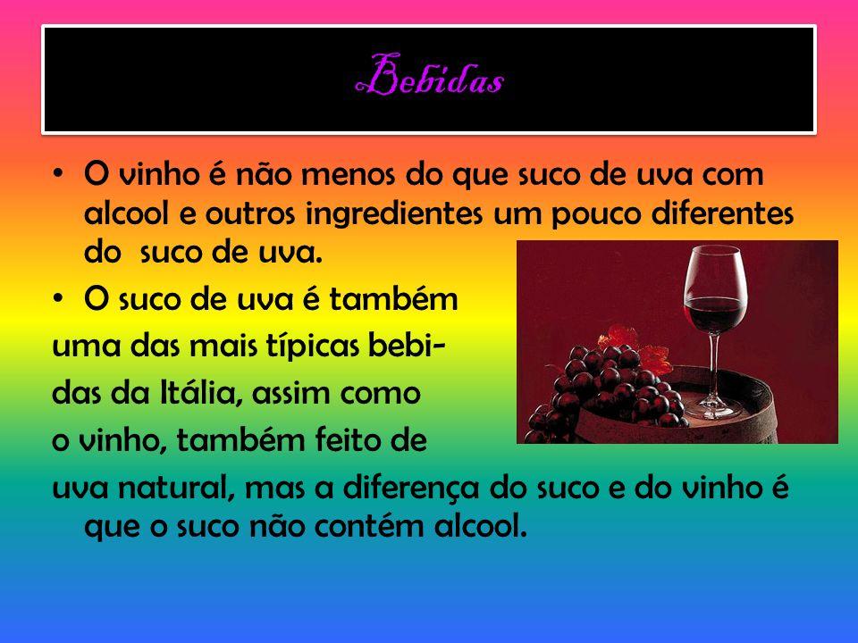 Bebidas O vinho é não menos do que suco de uva com alcool e outros ingredientes um pouco diferentes do suco de uva.