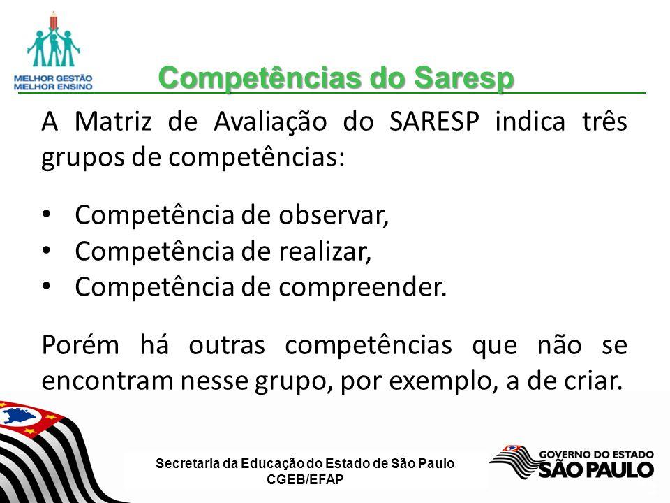 Competências do Saresp