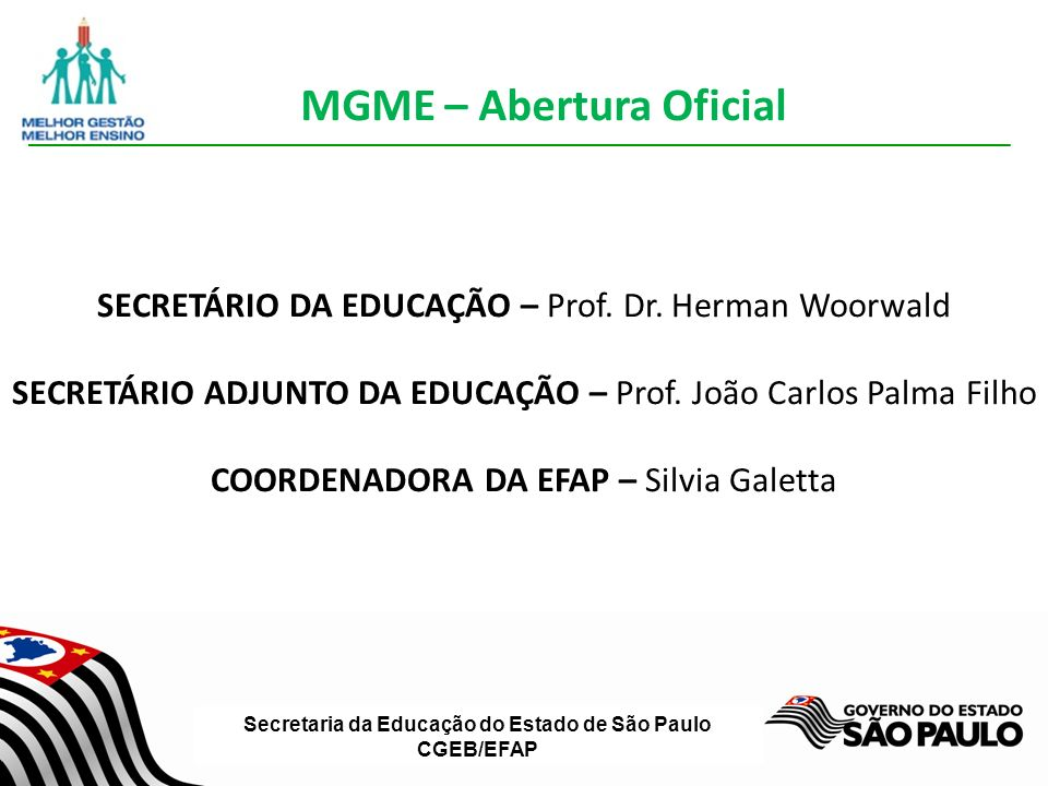 MGME – Abertura Oficial