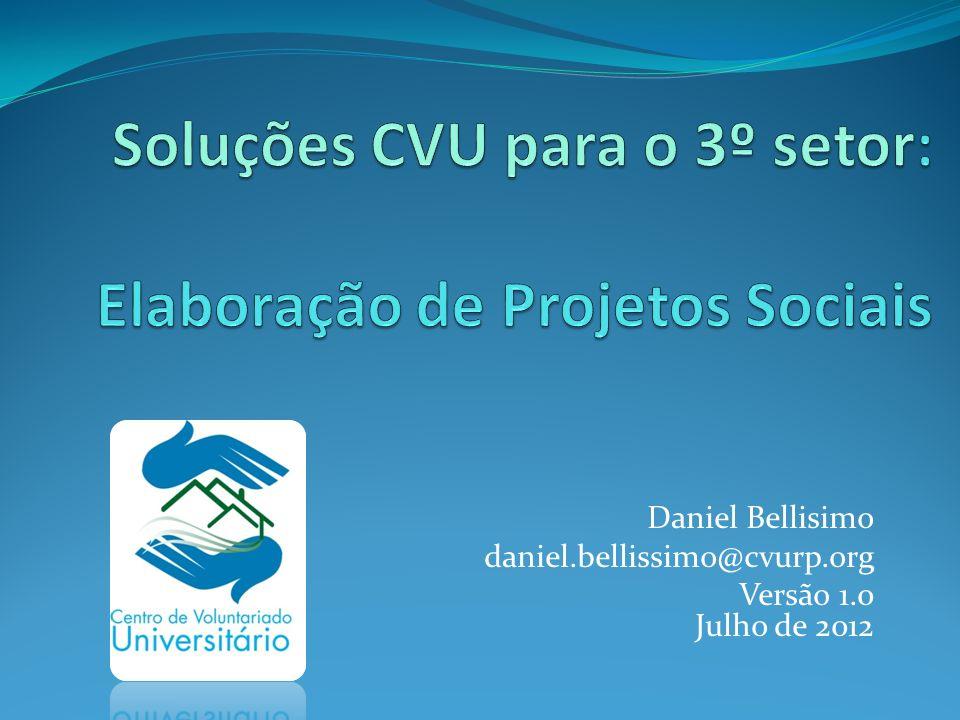 Soluções CVU para o 3º setor: Elaboração de Projetos Sociais