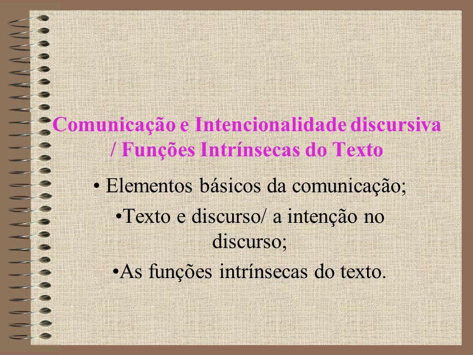 Elementos básicos da comunicação;