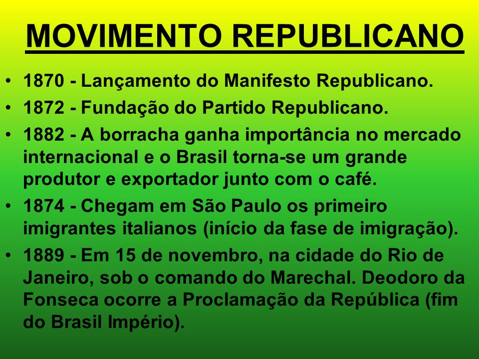 MOVIMENTO REPUBLICANO