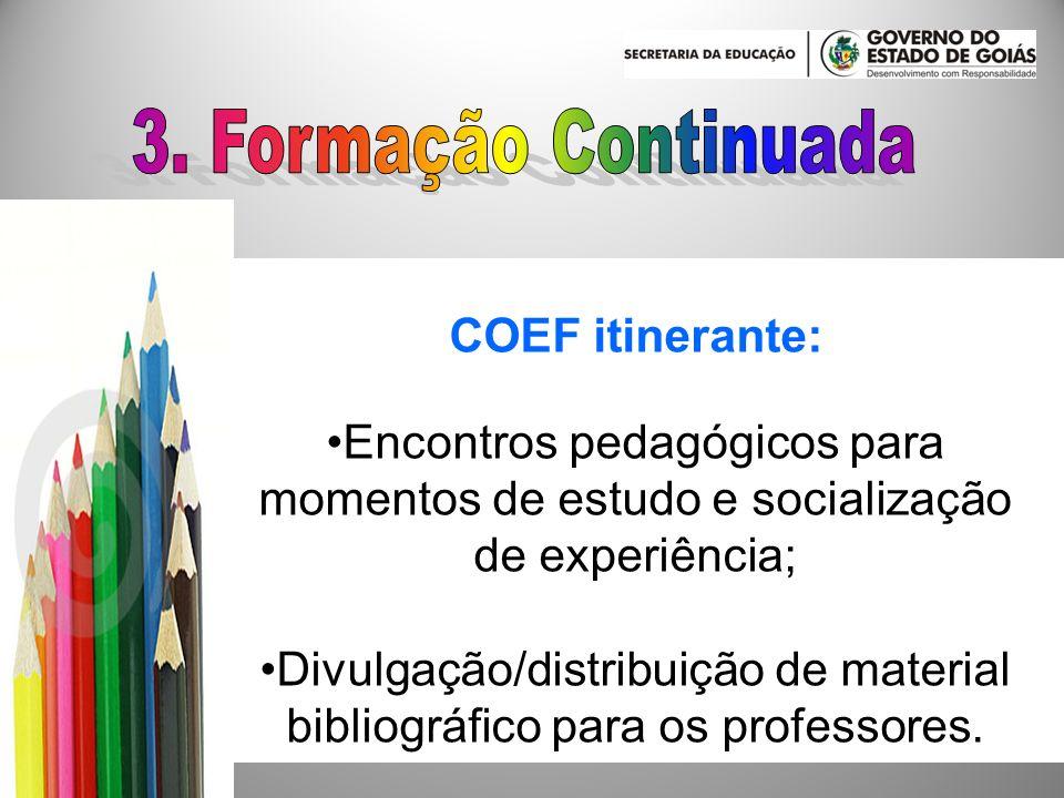 3. Formação Continuada COEF itinerante: