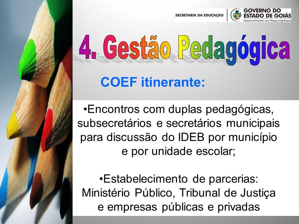 4. Gestão Pedagógica COEF itinerante: