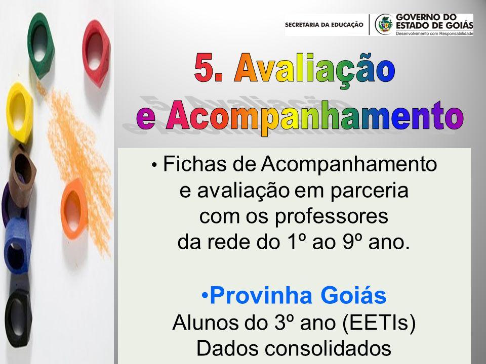 5. Avaliação e Acompanhamento Provinha Goiás e avaliação em parceria