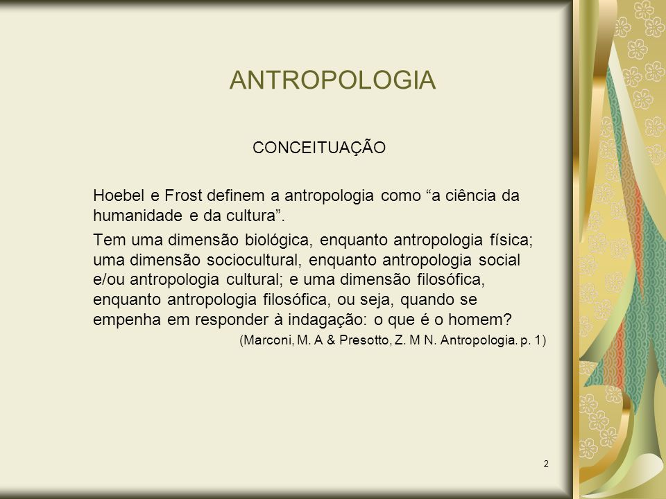 ANTROPOLOGIA CONCEITUAÇÃO