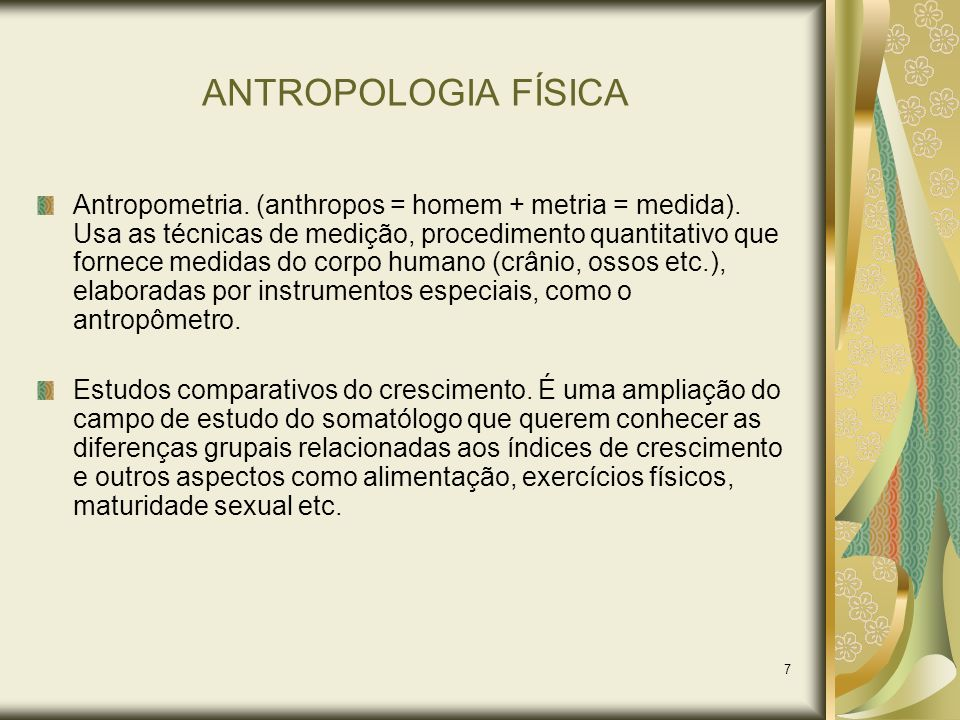 ANTROPOLOGIA FÍSICA