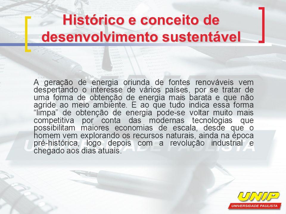 Histórico e conceito de desenvolvimento sustentável