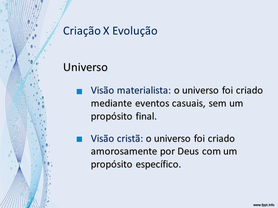 Criação X Evolução Universo