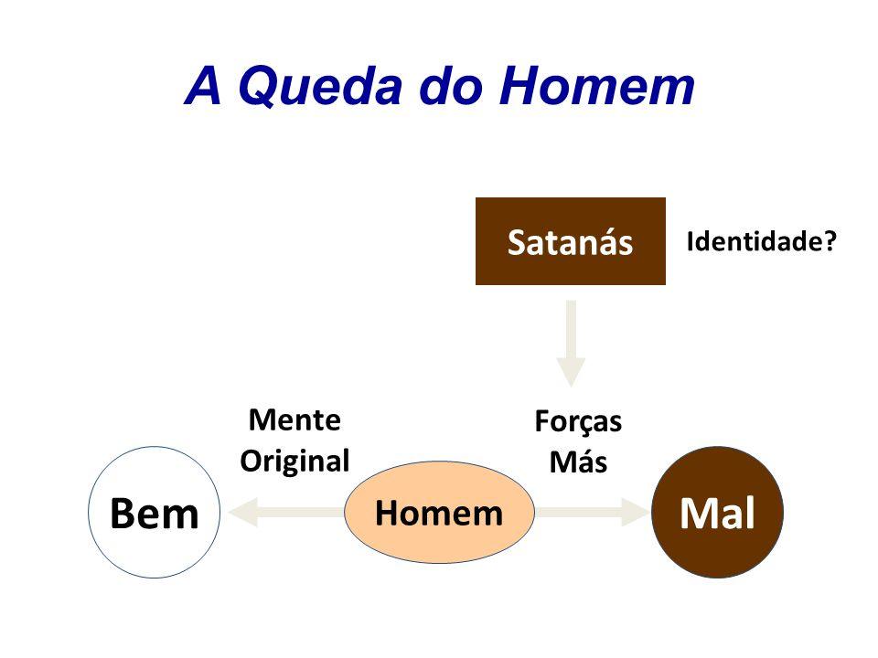A Queda do Homem Bem Mal Satanás Homem Mente Forças Original Más