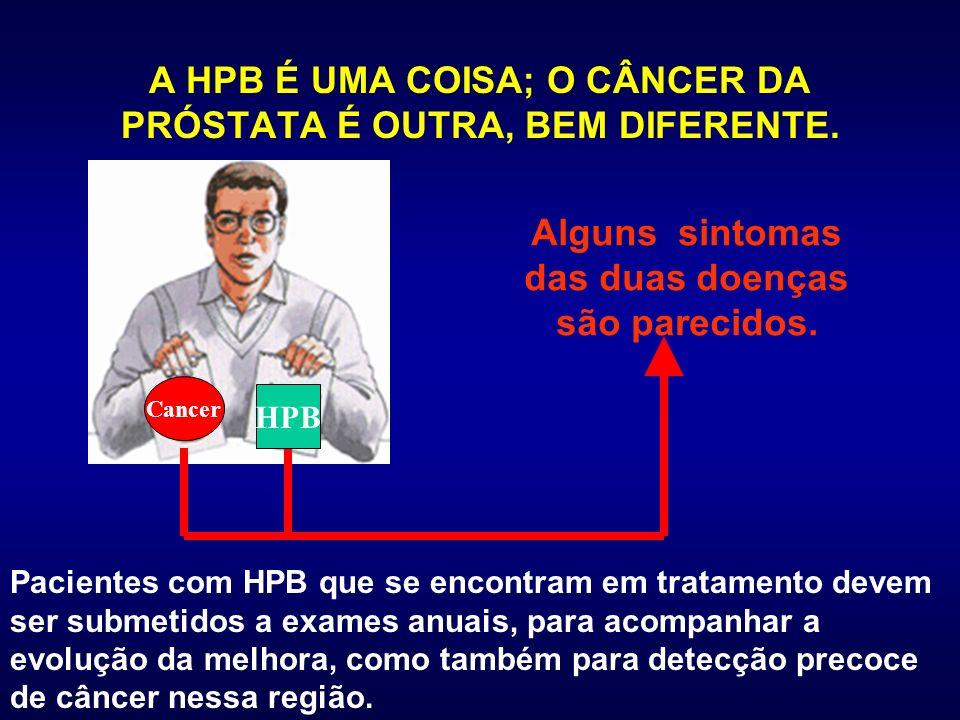 A HPB É UMA COISA; O CÂNCER DA PRÓSTATA É OUTRA, BEM DIFERENTE.