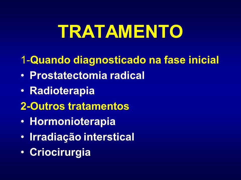 TRATAMENTO 1-Quando diagnosticado na fase inicial