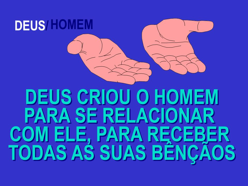 DEUS CRIOU O HOMEM PARA SE RELACIONAR COM ELE, PARA RECEBER