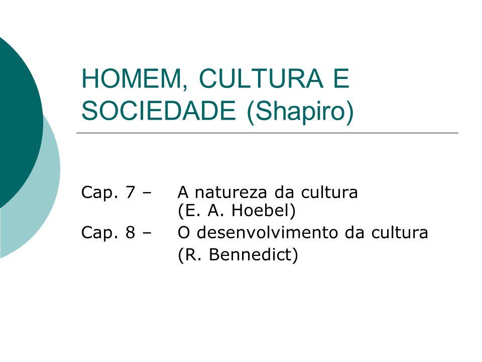 HOMEM, CULTURA E SOCIEDADE (Shapiro)