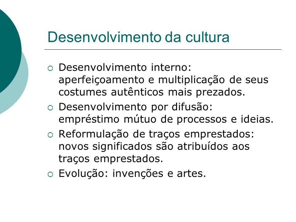 Desenvolvimento da cultura