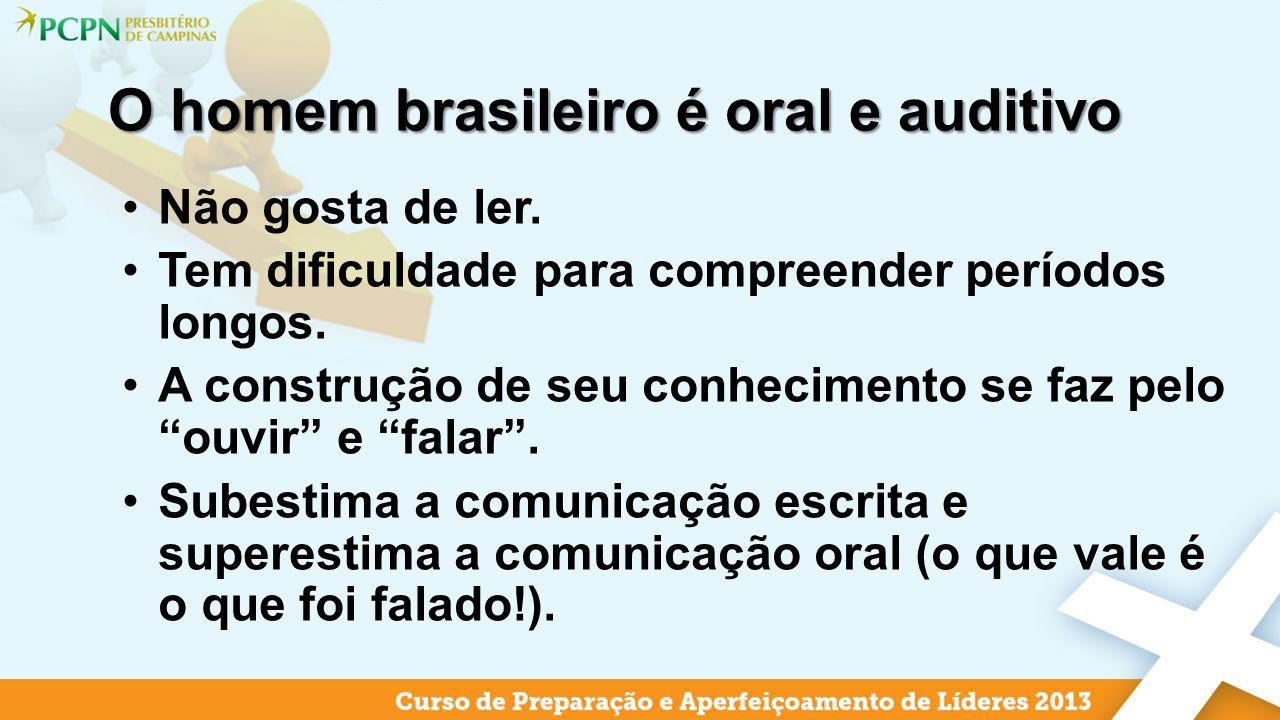 O homem brasileiro é oral e auditivo