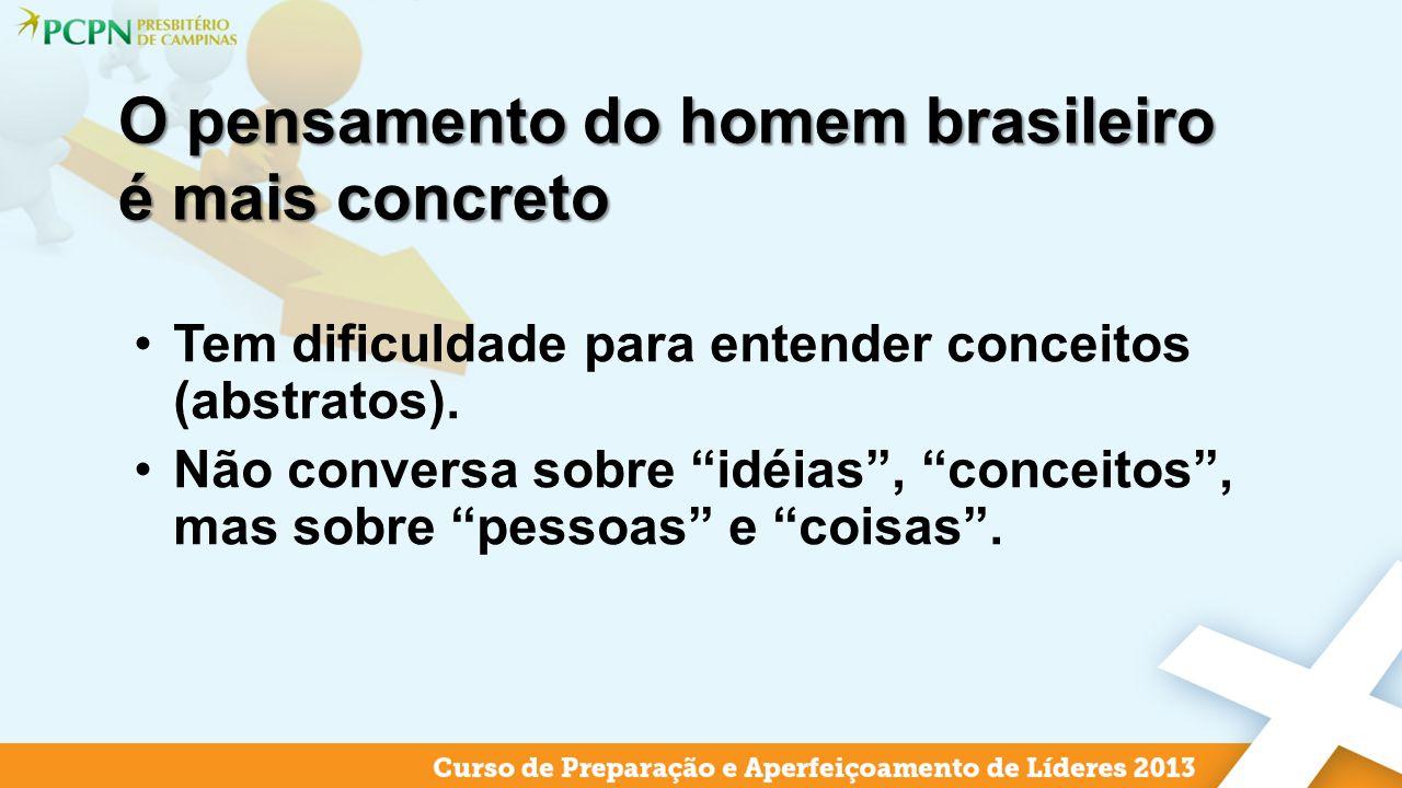 O pensamento do homem brasileiro é mais concreto