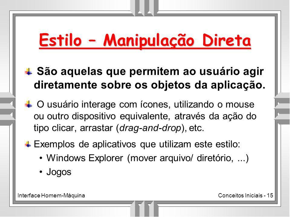 Estilo – Manipulação Direta