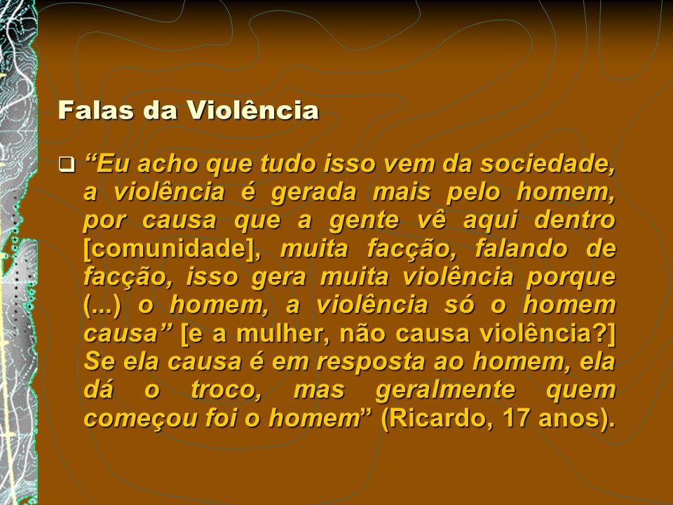 Falas da Violência
