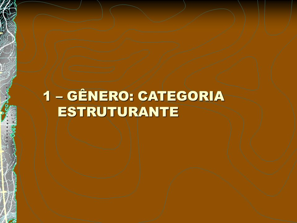 1 – GÊNERO: CATEGORIA ESTRUTURANTE