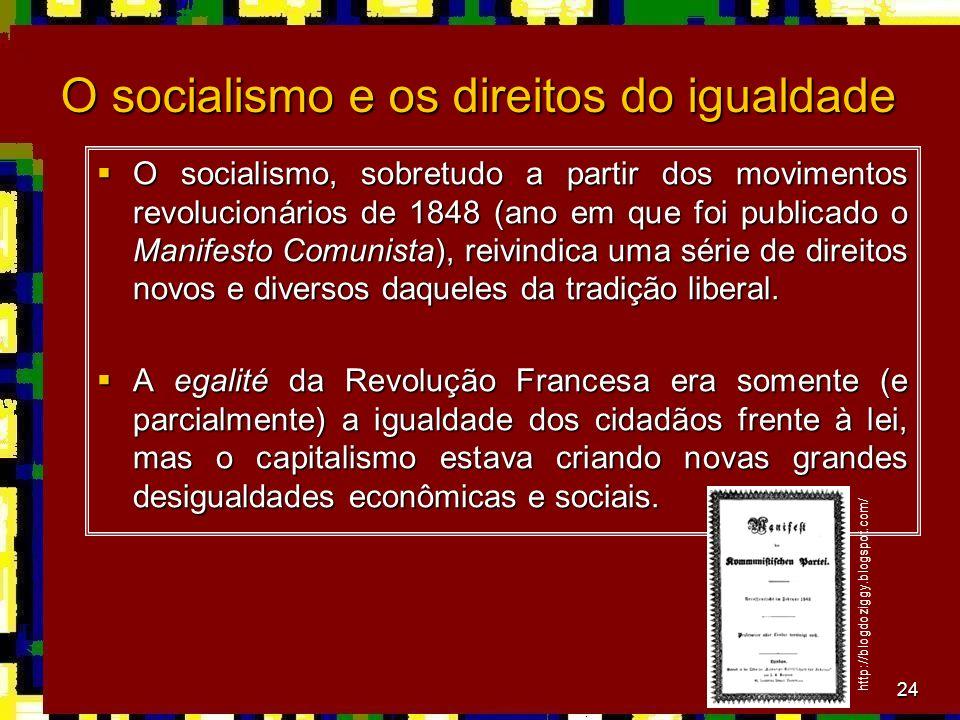 O socialismo e os direitos do igualdade