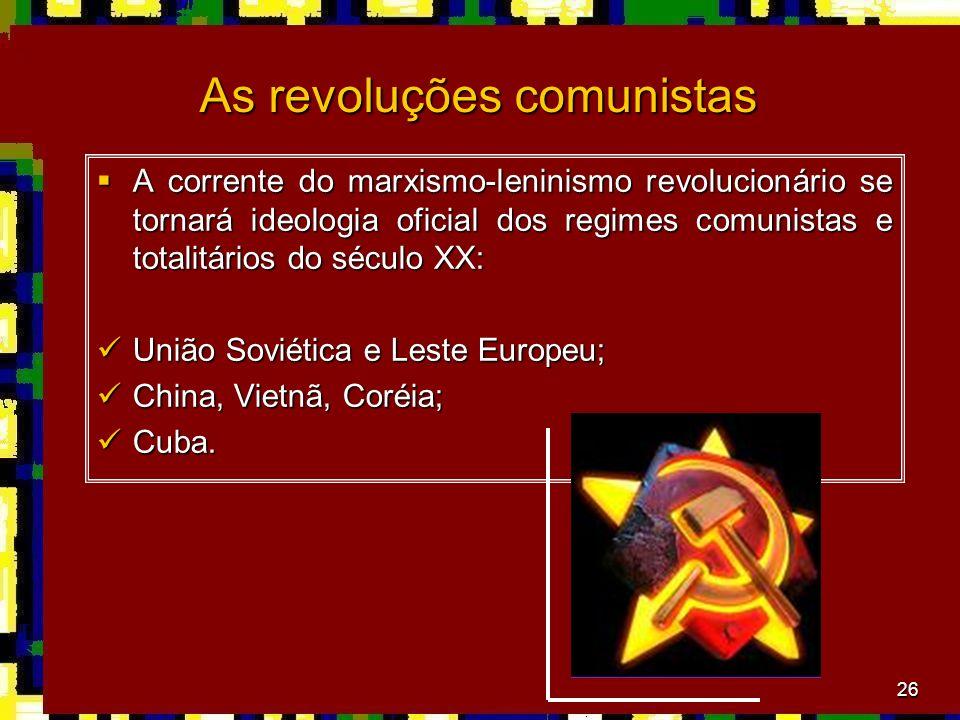 As revoluções comunistas
