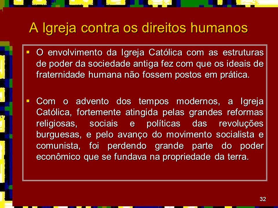 A Igreja contra os direitos humanos