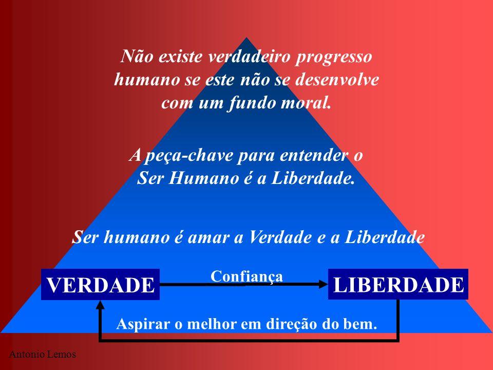 Não existe verdadeiro progresso humano se este não se desenvolve com um fundo moral.