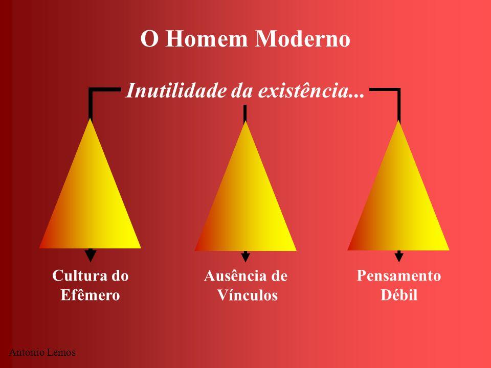 O Homem Moderno Inutilidade da existência... Cultura do Efêmero