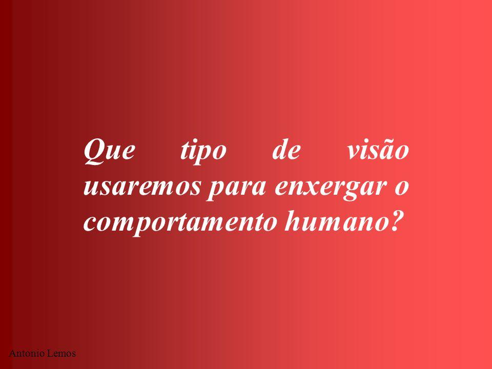 Que tipo de visão usaremos para enxergar o comportamento humano