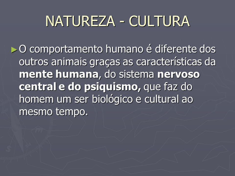 NATUREZA - CULTURA