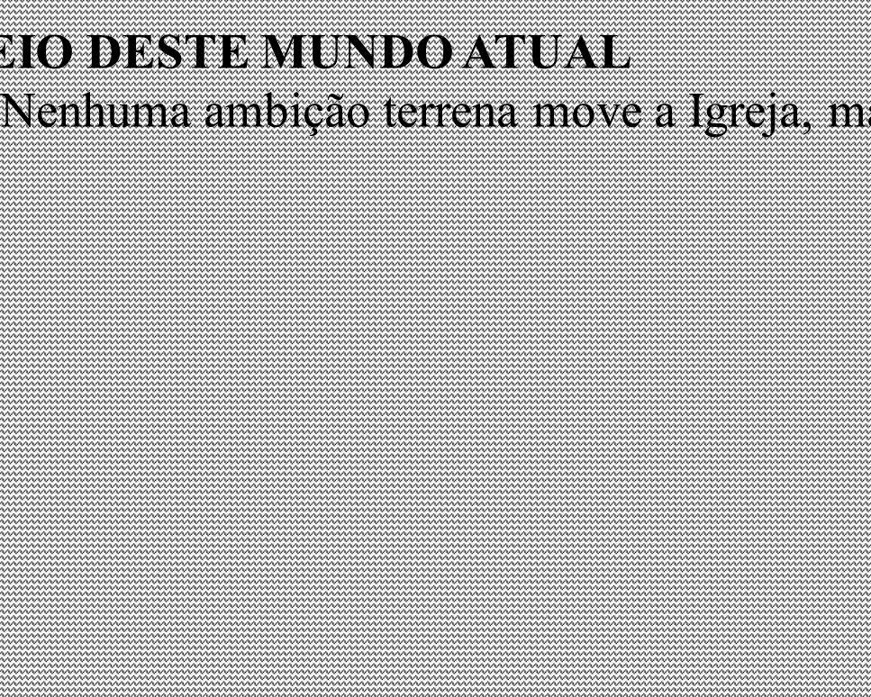 MISSÃO DA IGREJA NO MEIO DESTE MUNDO ATUAL