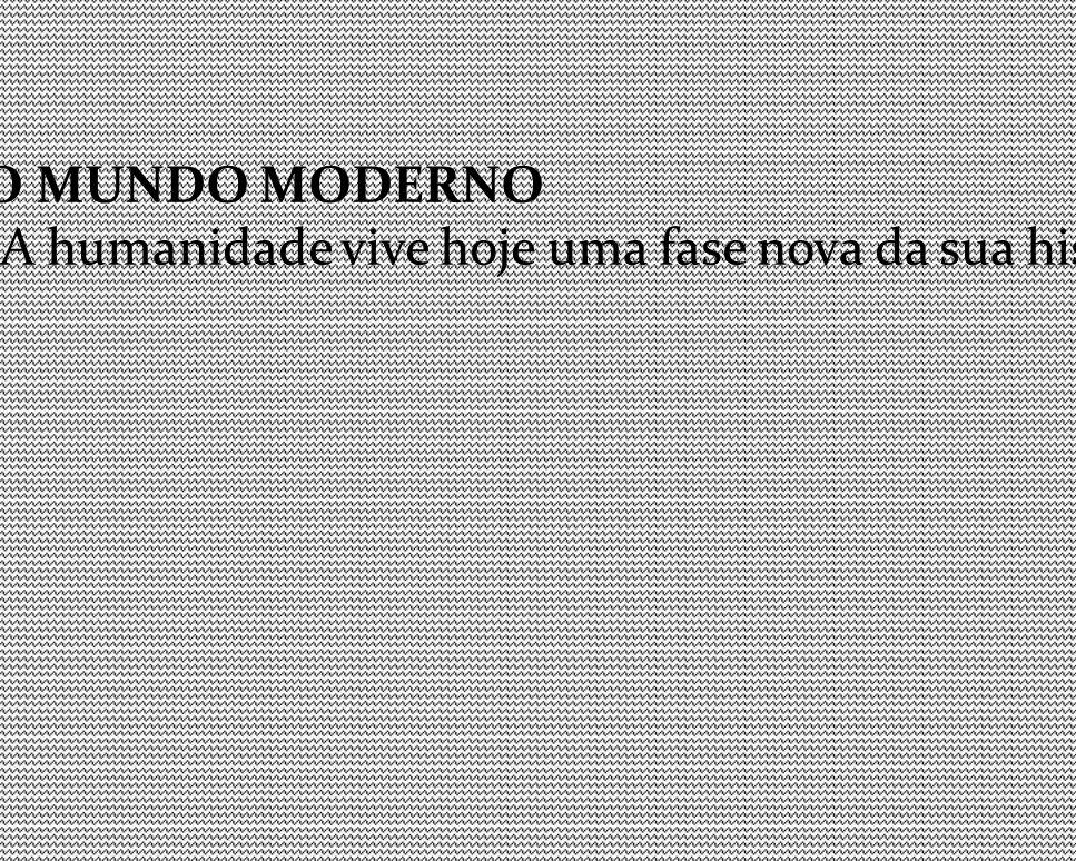 CARACTERÍSTICAS DO MUNDO MODERNO