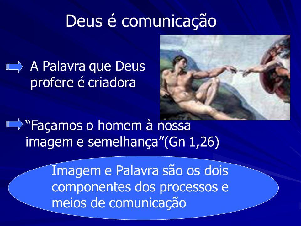 Deus é comunicação A Palavra que Deus profere é criadora