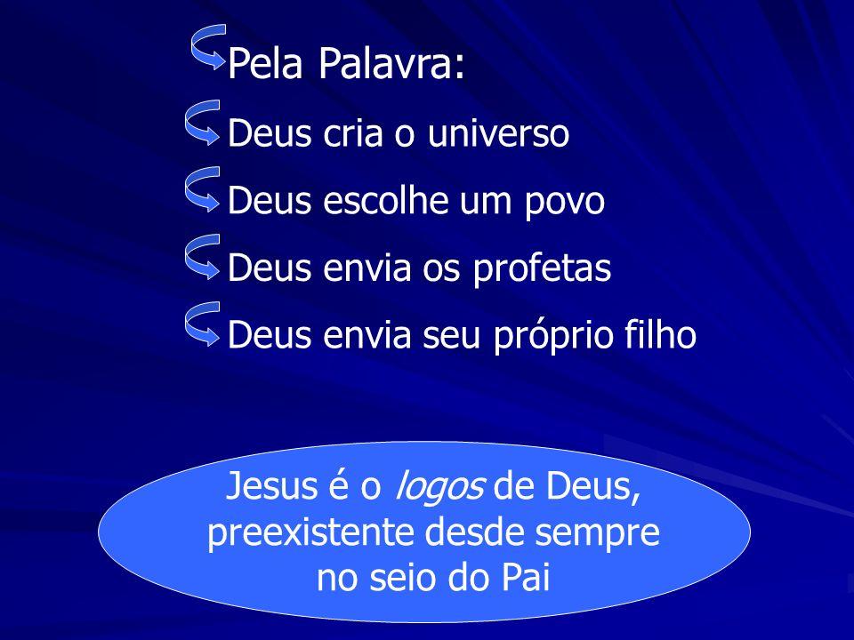 Jesus é o logos de Deus, preexistente desde sempre no seio do Pai