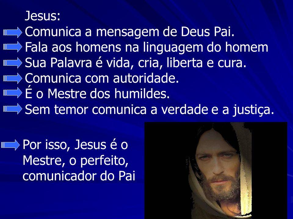 Jesus: Comunica a mensagem de Deus Pai