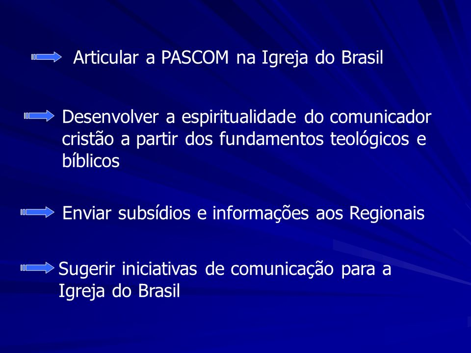 Articular a PASCOM na Igreja do Brasil