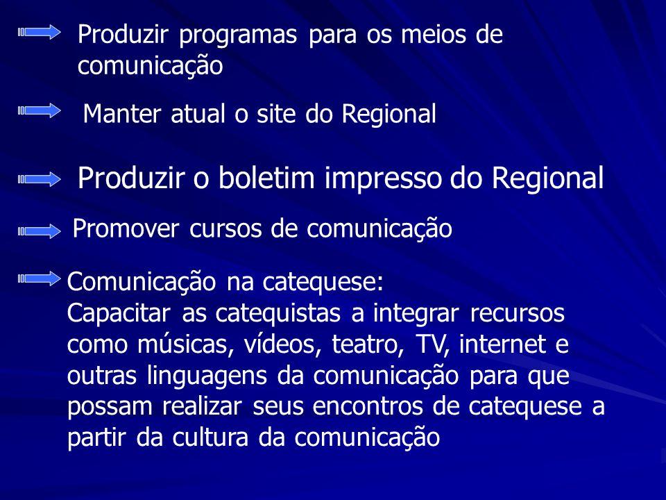 Produzir o boletim impresso do Regional