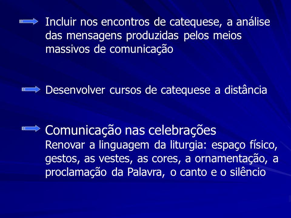 Incluir nos encontros de catequese, a análise das mensagens produzidas pelos meios massivos de comunicação