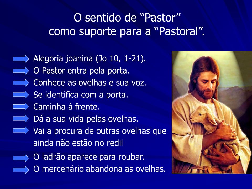 O sentido de Pastor como suporte para a Pastoral .