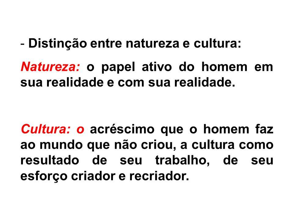 Distinção entre natureza e cultura: