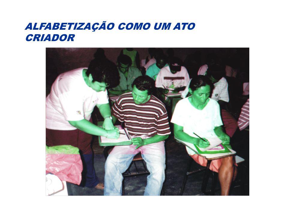 ALFABETIZAÇÃO COMO UM ATO CRIADOR