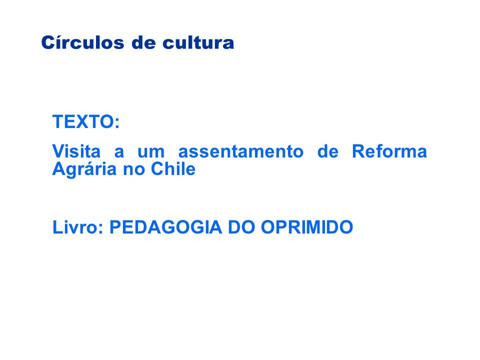 Círculos de cultura TEXTO: Visita a um assentamento de Reforma Agrária no Chile.