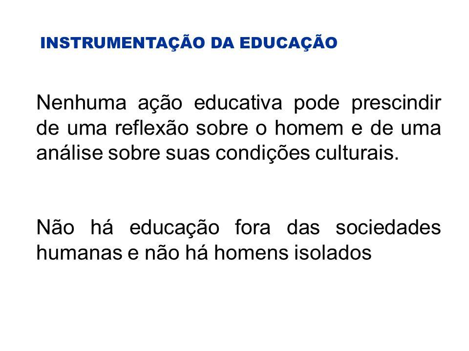 Não há educação fora das sociedades humanas e não há homens isolados