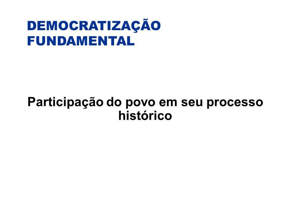 Participação do povo em seu processo histórico
