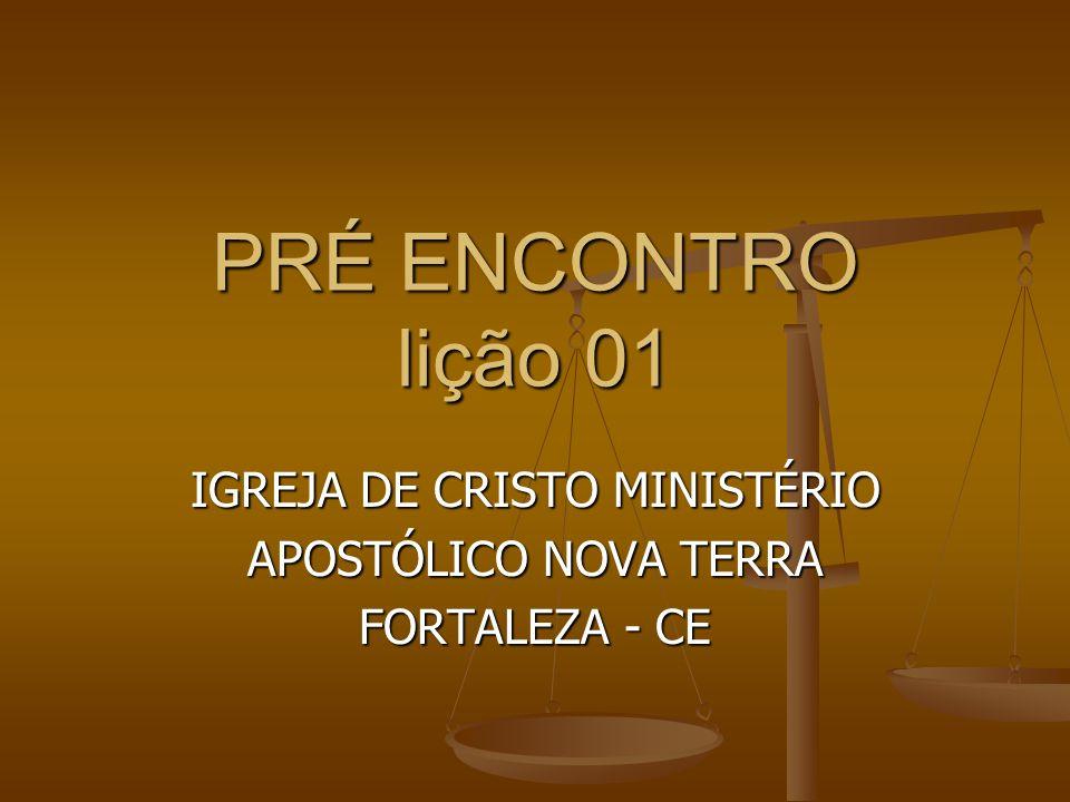 IGREJA DE CRISTO MINISTÉRIO APOSTÓLICO NOVA TERRA FORTALEZA - CE